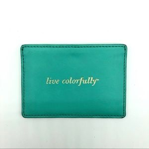 Kate Spade Turquoise Leather Card Holder